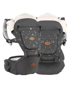 I-Angel - Miracle 4 Seasons Hip Seat Carrier - Star Charcoal
