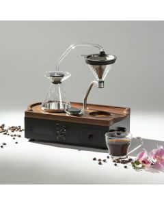 Barisieur Coffee Alarm Clock (Walnut wood - Black) CF501