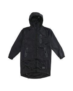 W.P.C. 日本KIU防撥水拉鍊長外套/風褸 (男女皆可) (黑色) K116-900