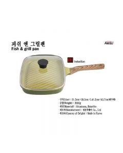 Kitchen Arisu - IH Olive Greenwood Frypan Series - 28.5CM 煎鑊 KAIHFG