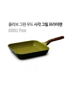 Kitchen Arisu - IH Olive Greenwood Frypan Series - 27CM 方形煎鑊 KAIHG27CM