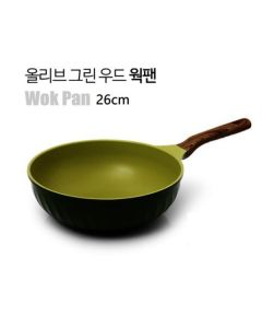 Kitchen Arisu - IH Olive Greenwood Frypan Series - 26CM 深炒鍋 KAIHW26CM