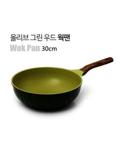 Kitchen Arisu - IH Olive Greenwood Frypan Series - 30CM 深炒鍋 KAIHW30CM