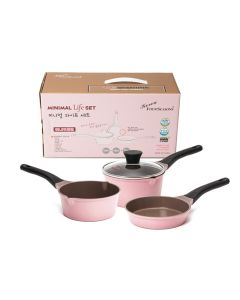 Kitchen Arisu - Minimal Pink 16CM 4Pcs set (炸鍋