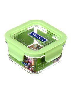 Glasslock 韓國製方形玻璃盒ECOZEN蓋480毫升 MCSB-049N