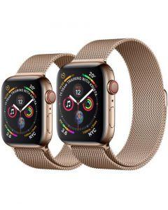 APPLE WATCH SERIES 4 (GPS + 流 動 網 絡 ) 金 色 不 鏽 鋼 錶 殼 配 金 色 鋼 織 手 環