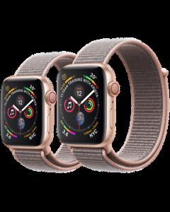 APPLE WATCH SERIES 4 (GPS + 流 動 網 絡) 金色鋁金屬錶殼配淺粉紅色運動手環