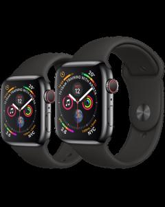 APPLE WATCH SERIES 4 (GPS + 流 動 網 絡) 太 空 黑 不 鏽 鋼 錶 殼 配 黑 色 運 動 錶 帶