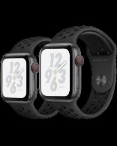 APPLE WATCH NIKE+ SERIES 4 (GPS + 流 動 網 絡) 太 空 灰 鋁 金 屬 錶 殼 配 上 煤 黑 色 配 黑 色NIKE運 動 錶 帶