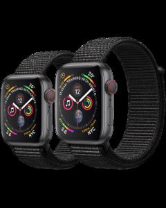 APPLE WATCH SERIES 4 (GPS + 流 動 網 絡) 太 空 灰 鋁 金 屬 錶 殼 配 黑 色 運 動 手 環