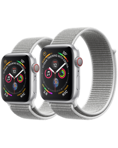 APPLE WATCH SERIES 4 GPS + CELLULAR SILVER ALUMINIUM CASE WITH SEASHELL SPORT LOOP