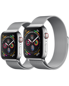 APPLE WATCH SERIES 4 GPS + CELLULAR STAINLESS STEEL CASE WITH MILANESE LOOP