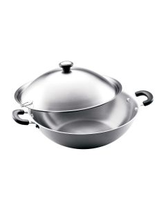 Meyer - Cenntinal 40cm / 9.4l Chinese Wok With Stainless Steel Lid (#72179) MYREX_72179
