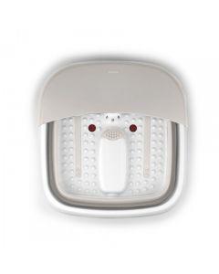 Nathome - 可折疊按摩足浴盆可折疊洗腳盆 米色 Nat_footmassage