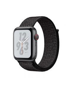 APPLE WATCH NIKE+ SERIES 4 (GPS + 流 動 網 絡) 太 空 灰 鋁 金 屬 錶 殼 配 上 煤 黑 色 配 黑 色 NIKE 運 動 手 環