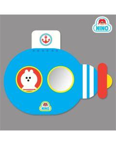 NINO韓國製兒童畫板壁貼鏡 –藍色潛艇