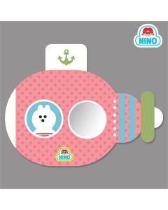 NINO韓國製兒童畫板壁貼鏡 – 粉紅色潛艇