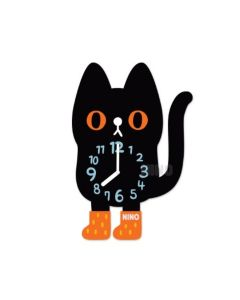 NINO韓國製童趣時鐘 – 小黑貓