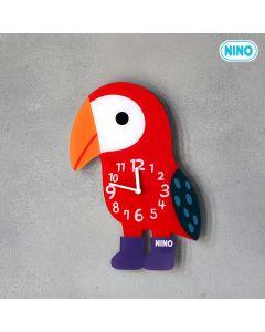 NINO韓國製童趣時鐘 – 小鸚鵡