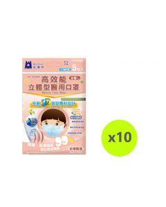 Blue Eagle 3D SS N95 medical face mask 5pcs/bag - Blue NP-3DSSMP5X10BLUE
