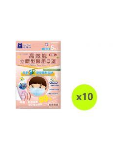 Blue Eagle 3D SS N95 medical face mask 5pcs/bag - Pink NP-3DSSMP5X10PINK