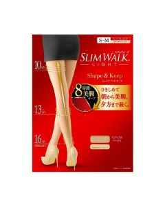 Slimwalk Compression Pantyhose Shape and Keep Stocking (Beige) [Made in Japan]