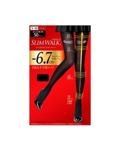 Slimwalk Compression Pantyhose with Supporting function for Pelvis Sheertights (Black)[Made in Japan]