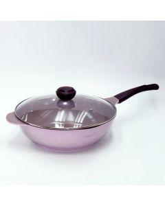 LA ROSE 32CM 韓國製炒鍋連蓋(紫色) RO-231