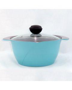 LA ROSE 24CM 韓國製萬用煲連玻璃蓋 (藍色) RO-24G-B