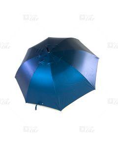 梁蘇記 - 纖維骨自動長雨傘 - 閃藍面黑底