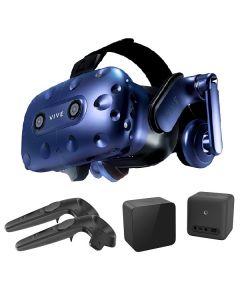 HTC VIVE Pro 套裝: VIVE Pro 頭戴式顯示器 + VIVE 1.0版本基地台及1.0版本控制器