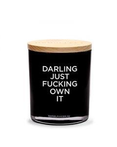 """Damselfly Collective""""Darling Just Fucking Own It"""" 澳洲天然""""淘氣""""雪松無花果香薰蠟燭400g XD24B"""