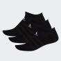 adidas -  Training Cushioned Low-Cut Socks 船襪3對- 黑色