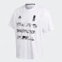 adidas -  Captsuba 足球小將 T恤白色/黑色