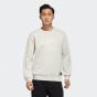 adidas Men Badge Of Sports Th Swt Dk Bos Graphic Sweatshirt (Long Sleeve) Alumina