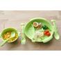 Cornflower 玉米食器 - 嘟嘴魚兒童餐盤 - 綠色