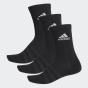 adidas CUSHIONED 短筒襪 (3 對) - 黑色