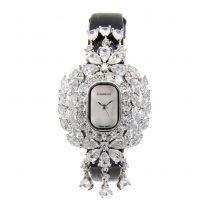Crisathena - 吊燈系列手錶黑色-白金 CC01-CBW-WG