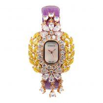 Crisathena - 吊燈系列手錶紫色-玫瑰金 CC04-CPYW-RG