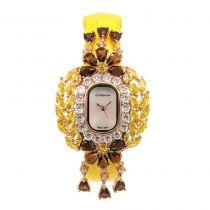 Crisathena - 吊燈系列手錶黃色-玫瑰金 CC08-CYYWB-RG