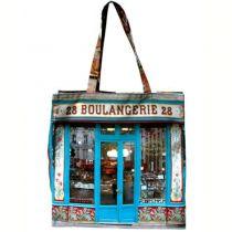 MBJPARECAGE2 Maron Bouillie 巴黎傳統老店圖案手提袋 (大) - Boulangerie 麵包店