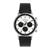 Trussardi T-Gentleman Black Leather Strap Men's Watches R2451135006 R2451135006