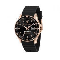 Maserati Sfida Black Silicon Band Strap Automatic Men's Watches R8821140001 R8821140001