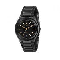 Maserati Triconic Black Steel Strap Men's Watches R8853139004 R8853139004