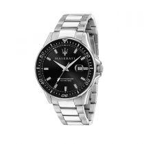 Maserati Sfida Silver Metal Band Strap Men's Watches R8853140002 R8853140002