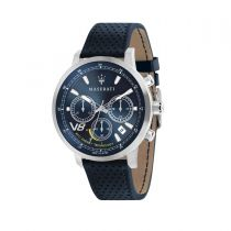 Maserati GT Blue Leather Strap Chronograph Men's Watches R8871134002 R8871134002