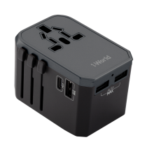 MOMAX 1-WORLD AC TRAVEL ADAPTER (TYPE-C PD + 3 USB-A)