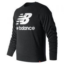 New Balance - Essentials Stacked Logo Crew Sweatshirt Black AMT91548_BK