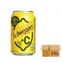 Schweppes - [Full Case] +C LEMON SODA