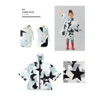W.P.C. Japan KIU Sleeve Rain Poncho For Kids (Large Star) K71-110poncho_main